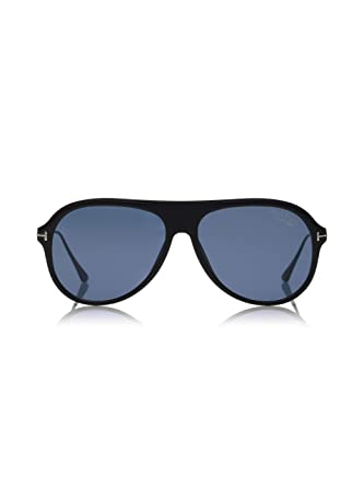 b52fcf3f22e76 Image Unavailable. Image not available for. Color  Tom Ford Nicholai TF 624  02D Matte Black Plastic Sunglasses ...
