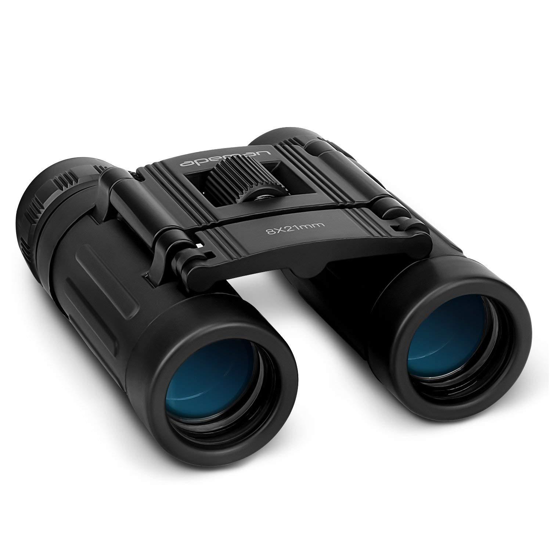 Ideal para Caza Astronom/ía Observaci/ón de Aves y Camping Viejos y los usuarios con Gafas Prism/áticos Binoculares Profesionales 8 x 21 HD con Gran Diametro Lentes para para Adultos