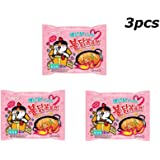 3 pcs Samyang Carbo Buldak Nuclear Fire Fried Chickeb Super Hot Spicy Noodle ~130g/0.3pound Instant Food Ramen Limited Edition