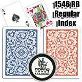 Copag Playing Cards, 1546 RB, Regular Index, Poker Size with Free Card Protector