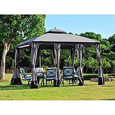 Replacement Canopy Set for Model L-gz212pco-b Grey Fabric: Home & Kitchen