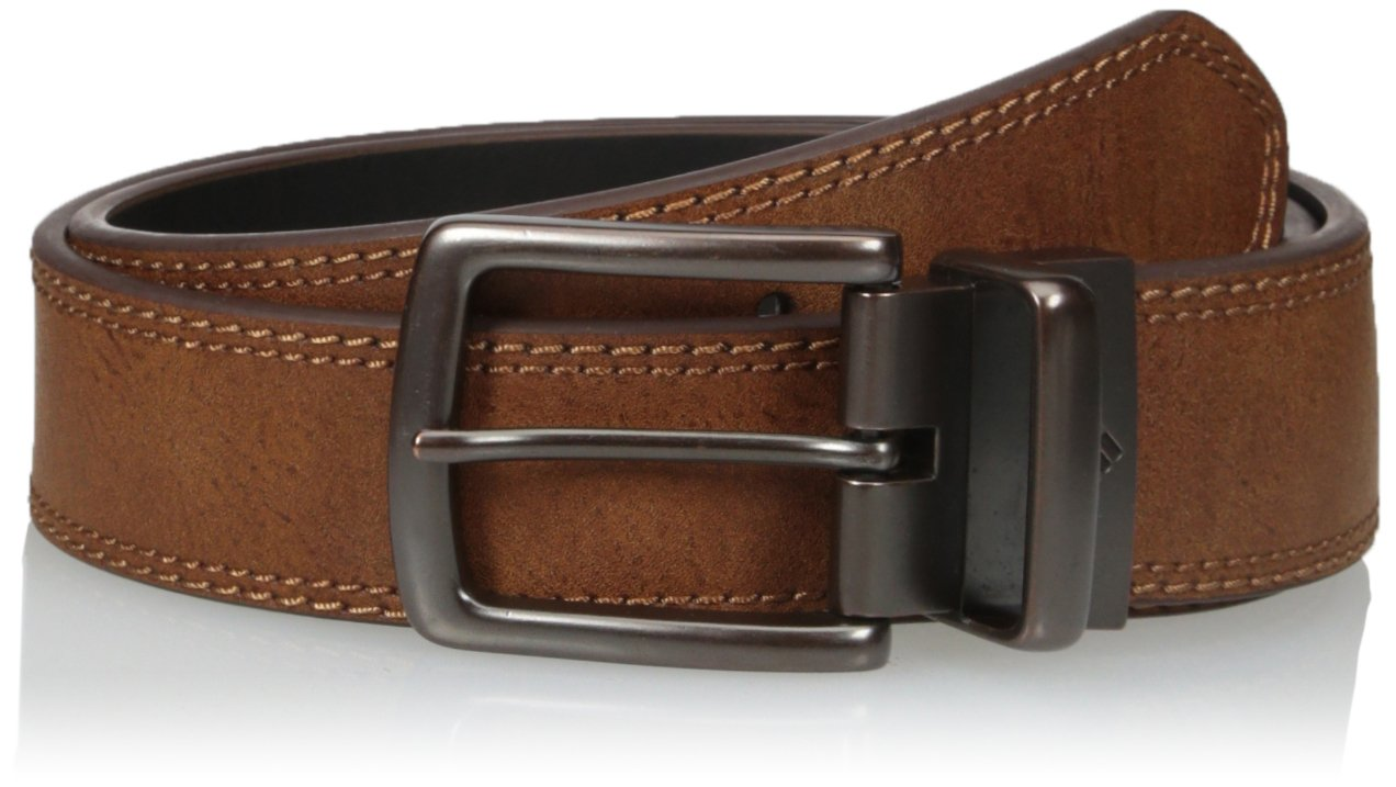 Columbia Men's 1.5 in. Wide Stitched Reversible Belt, brown/black, 44