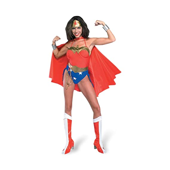 WONDER Woman - Super Hero Fancy Dress Costume - Adults - L ...