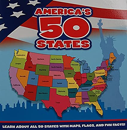 America Map 50 States.America S 50 States Book Learn About All 50 States With Maps Flags And Fun Facts