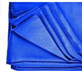 1 DOZEN 16X16 BLUE DIAMOND WAFFLE WEAVE MICROFIBER GLASS DETAILING LINT FREE TOWELS