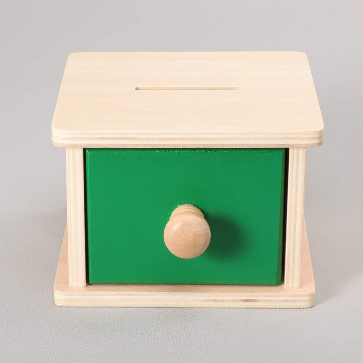 NUOBESTY Montessori Infant Box Box Exercice Jouets de Coordination Oil-Main avec Plateau pour Les Tout-Petits