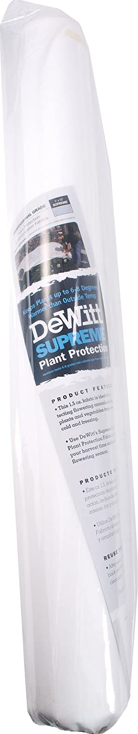 DeWitt Supreme 1.5 Oz 6u0027 X 50u0027 Plant Frost Protection Winterization Cloth  Freeze Blanket