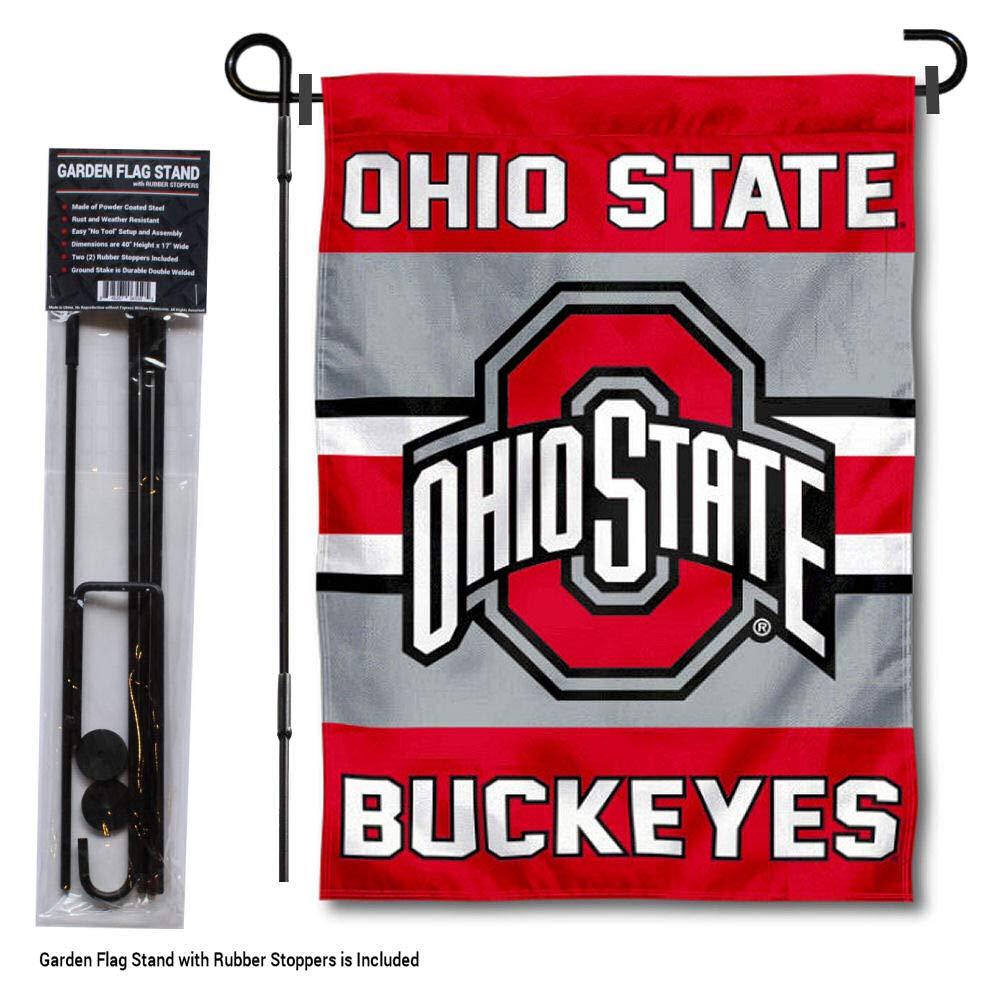 Ohio State Buckeyes O H I O Garden Flag Brand New 12.5 x 18 Double Sided