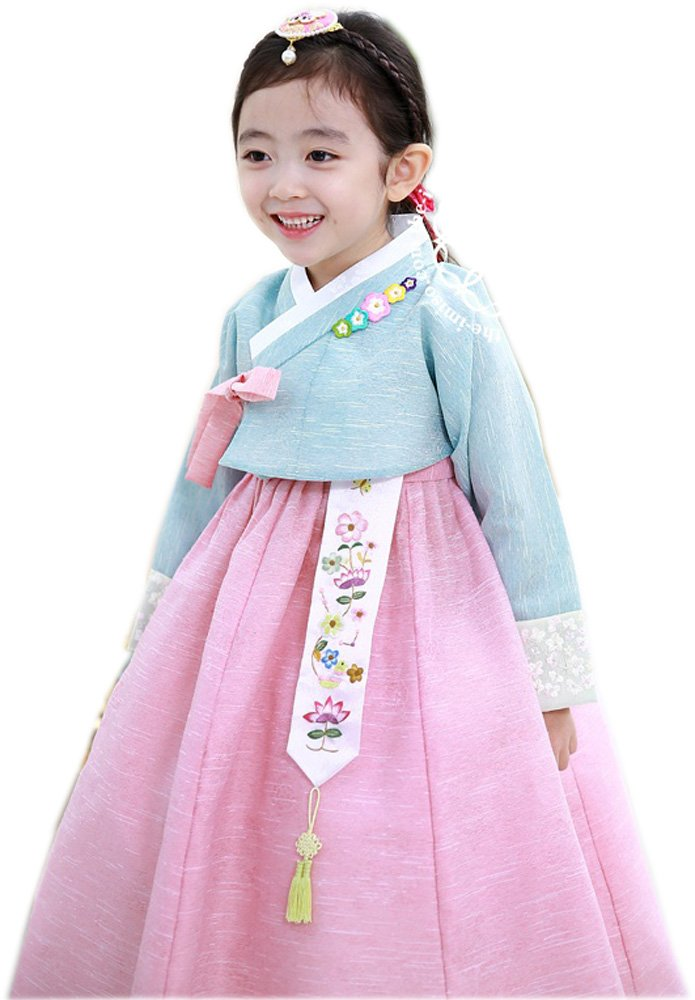 Korean Hanboks girls babys kids traditional hanbok dress costumes party birthday hg105 (3 ages)