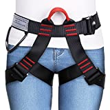 GHB Climbing Harness Safe Seat Belt for Fire Rescue High Altitude School Assignment Caving Rock Climbing Rappelling Equipment Half Body Guard Protect