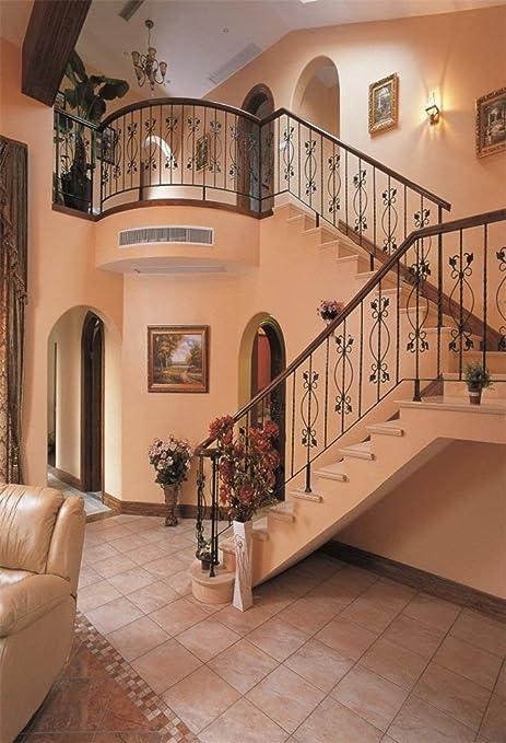 GzHQ 3x5ft Fondo Vinilo Fotografía Moda Fondo Moda Delicada Moderna Casa Ciudad Decoración Escaleras Sofá Escena Dulce Escalera en Espiral Fondo 1 (W) X1.5 (H) M Estudio fotográfico Prop: Amazon.es: Electrónica
