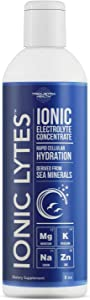 Ionic Lytes Electrolyte Concentrate (96 Servings) | Sugar Free, Keto Electrolyte Drops, Perfectly Purified Ionic Electrolytes for Rapid Hydration | 30% More Potassium, Magnesium & Zinc (8 oz)