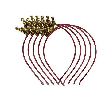 YeahiBaby Confetti corona diadema de oro 5 piezas Linda princesa corona diadema para niñas, Favores de la fiesta de cumpleaños