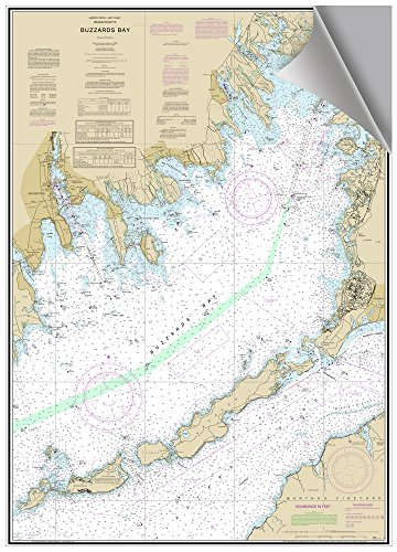 MAPTECH Buzzards Bay, MA Decorative Nautical Chart