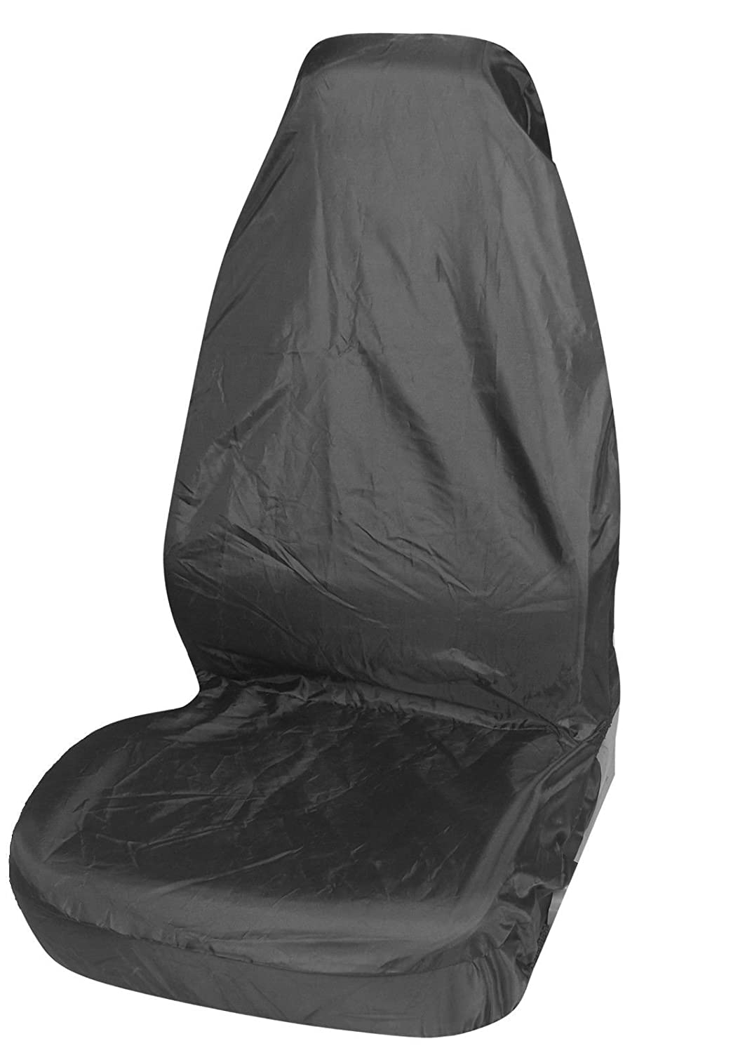 MR E SAVER© Heavy Duty Waterproof Single Seat Cover Protector Seat Protection Seat Covers & Supports Black MRE1196