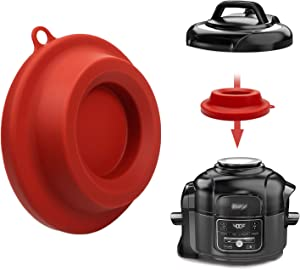 Silicone Lid Stand, Silicone Pressure Cooker Lid Holder Accessories For Ninja Foodi Pressure Cooker and Air Fryer 5 Qt, 6.5 Qt and 8 Quart (Red)