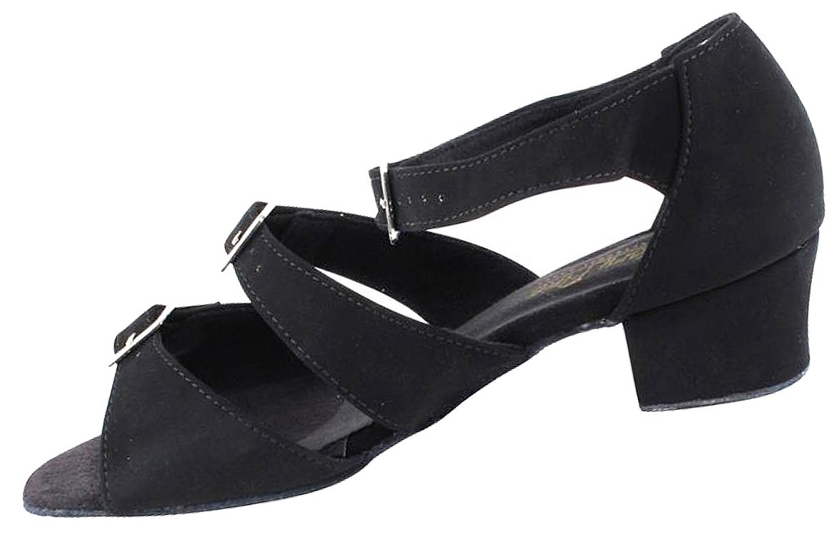 Womens Ballroom Dance Shoes Party Salsa Practice Shoes Black Nubuck 1679EB Comfortable - Very Fine 1.5'' Heel 8 M US [Bundle of 5] by Very Fine Dance Shoes (Image #4)