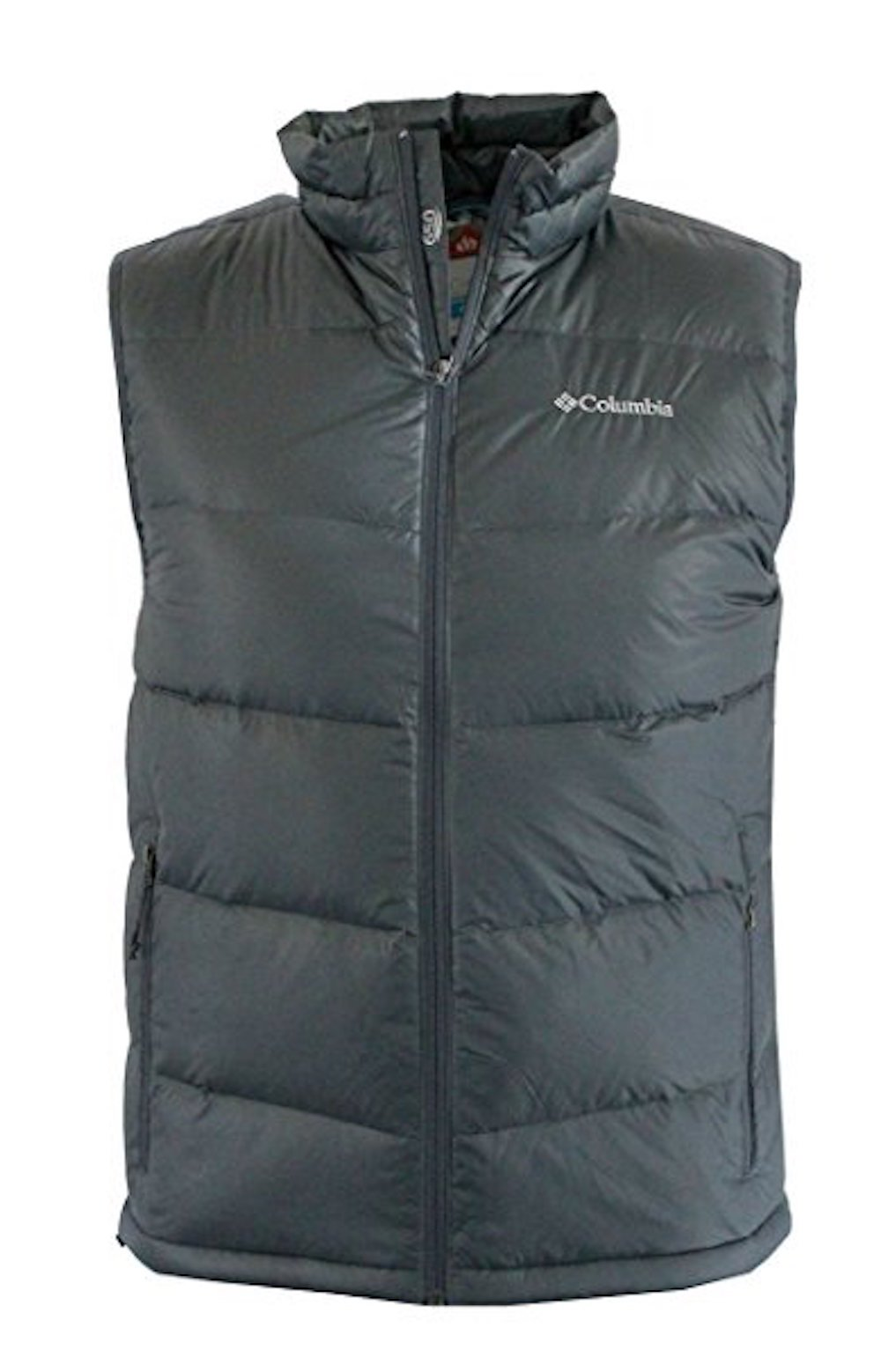 Columbia Men's Superpipe Slope Winter Omni Heat 650 Down Puffer Vest (Graphite, XL)
