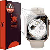 Skinomi TechSkin [6-Pack] (Edge to Edge) Clear Screen Protector for Apple Watch Series 4 (44mm) [Full Coverage] Anti…