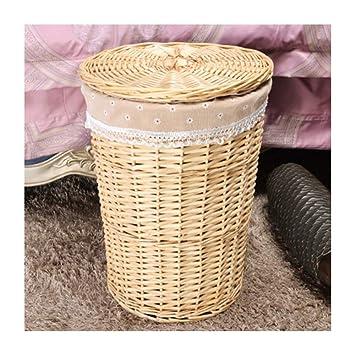 Uns Cesto de Mimbre de Mimbre cestería Caliente Tienda de Ropa Toalla de la habitación del