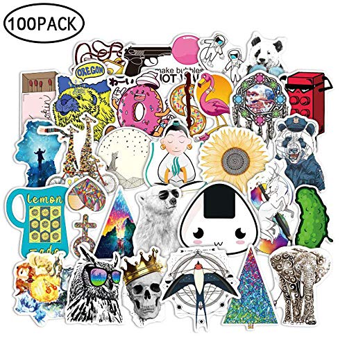 FOONEE 100pcs Label Art Graffiti Sticker (6cm-12cm), Not Repeat Car Motorcycle Bicycle Skateboard Laptop Luggage PVC Sticker Graffiti Laptop Luggage Decals Bumper Stickers ()