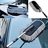 GENERIC Gray : Microfiber Car Duster Cleaning Cloths Car Care Clean Brush Dusting Tool Microfibre Wax Polishing Detailing Towels Washing Cloths