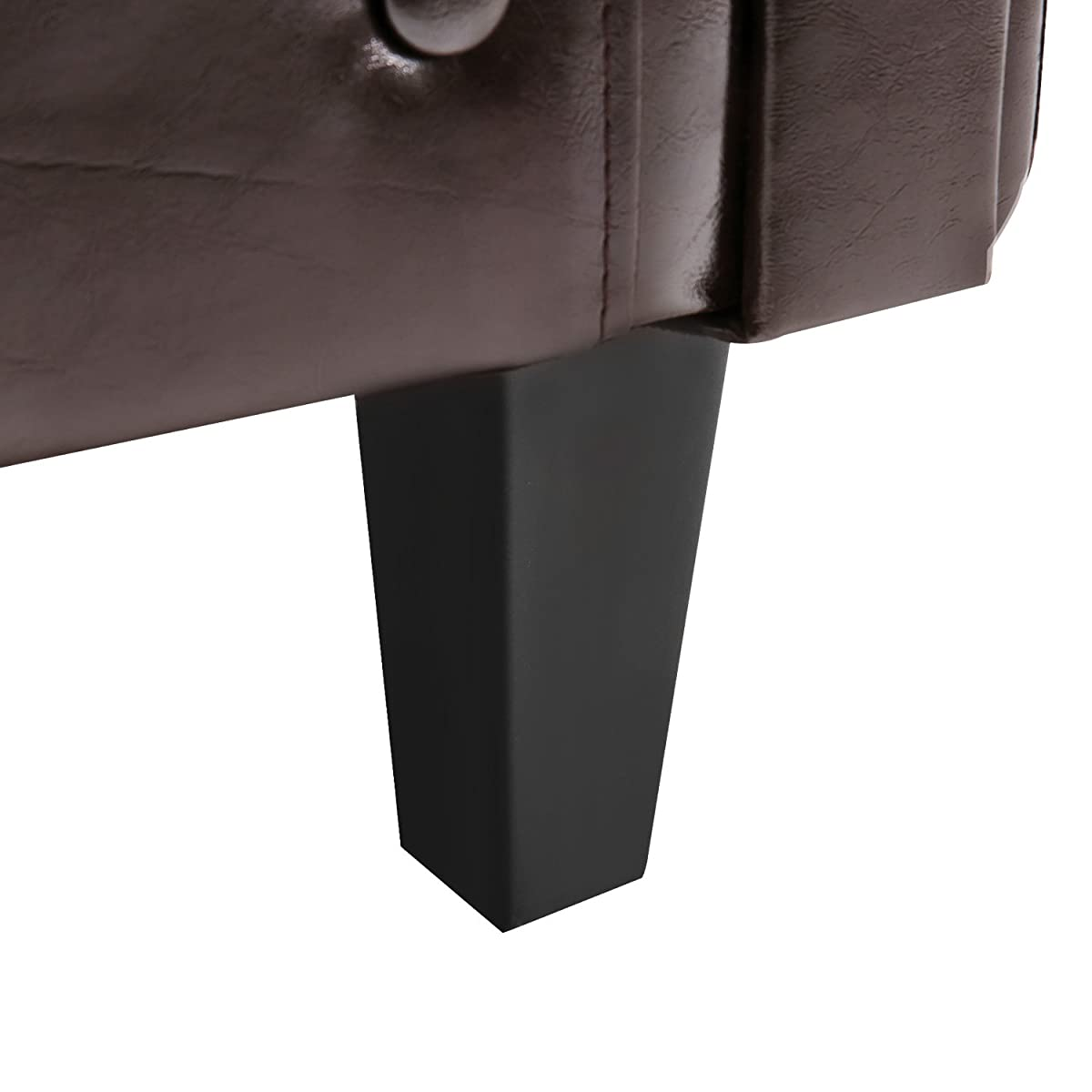 Harper&Bright Designs Armchair Modern Upholstered Living Room Club Chair with PU Leather/Ottoman/Cushion (Brown.)