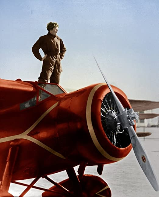 Great Gift Under $15 for Aviation Enthusiasts Adventure 11x14 Unframed Art Print Amelia Earhart