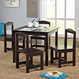 Sturdy Set and Easy to Clean Hayden Kids' Table and Chairs Set, Multiple Colors, 5-Piece (Espresso)