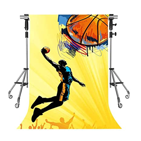 cb6afb954 Amazon.com   MEETSIOY Sports Hall Backdrop Celebrity Basketball ...