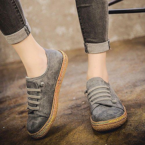 chaud Gris Plates Sonnena Femme Hiver mode Chaussures Boots Bottes Classiques Sport chaussures Couleur Automne Pure Dames Flattie Casual Yw6gqYT