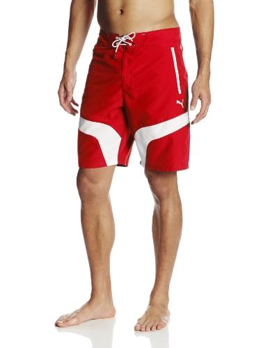 - PUMA Men's Sf Board Shorts, Rosso Corsa, Small