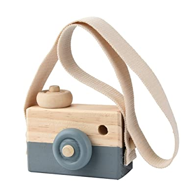 MagiDeal Caméra Bébé Enfant Jouet Appareil Photo En Bois Photographie Décor Jeux Cadeau De Noël - Gris