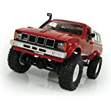Jinger WPL 1:16 Scale Electric Jeep 4WD Kid Toys for Boys Girls,2.4G Remote Control Car(Red)