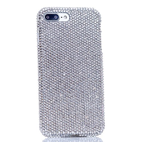 iPhone 7 Plus Case / iPhone Plus 8 Case Handmade with Genuine Clear Crystals Bling Protective Easy Grip Design Cover for iPhone 7/8 Plus by LUXADDICTION