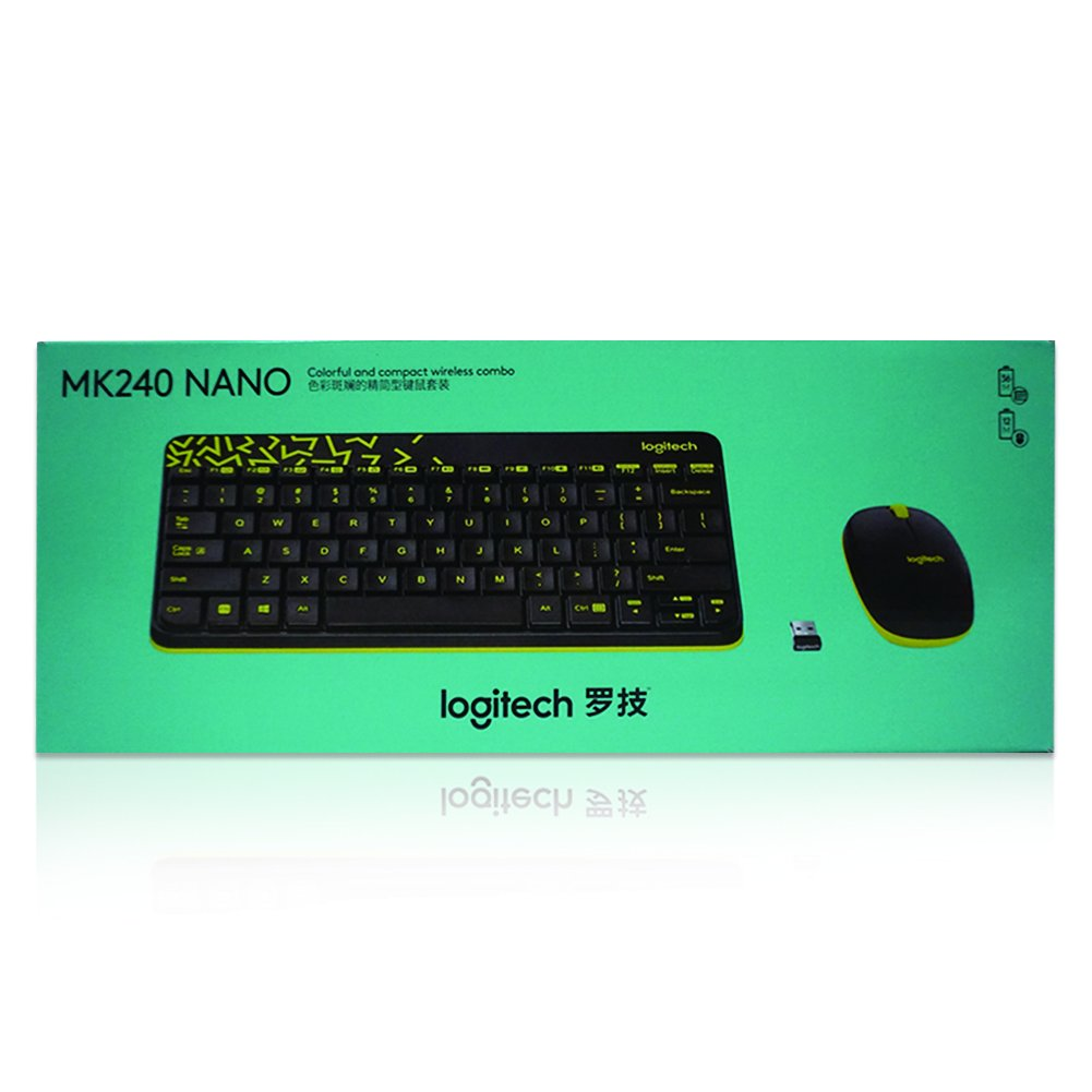 b917b9b13c6 Amazon.in: Buy Logitech MK240 NANO Mouse and Keyboard Combo Black Color  Online at Low Prices in India   Logitech Reviews & Ratings