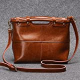 Kaxima Women handbag stitching Female bag leather single shoulder bag
