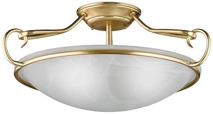 Honsel Leuchten 88973 - Lámpara de techo de latón mate y ...