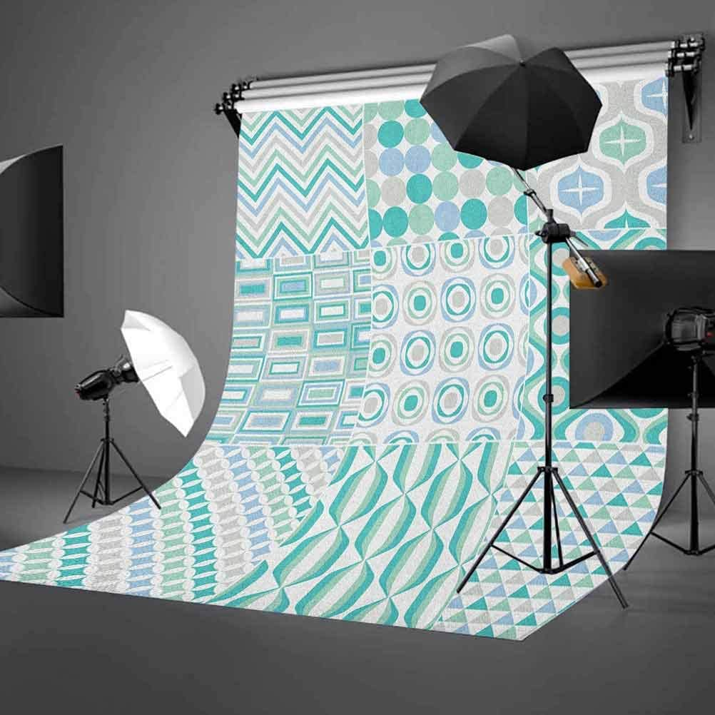 9x16 FT Vinyl Photography Background Backdrops,Abstract Mosaic Art Geometric Shapes Stripes Patterns with Colorful Design Background for Child Baby Shower Photo Studio Prop Photobooth Photoshoot