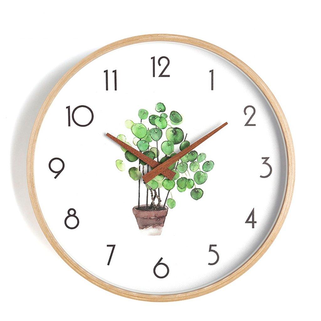 ZWD 静かなベッドルームの壁時計、リビングルームコーヒーショップレストランの理髪店ホテルの研究教室書店の壁時計木製の壁時計25.6-40.8CM 飾る (色 : B, サイズ さいず : 25.6 * 25.6CM) B07FRWXH44 25.6*25.6CM|B B 25.6*25.6CM