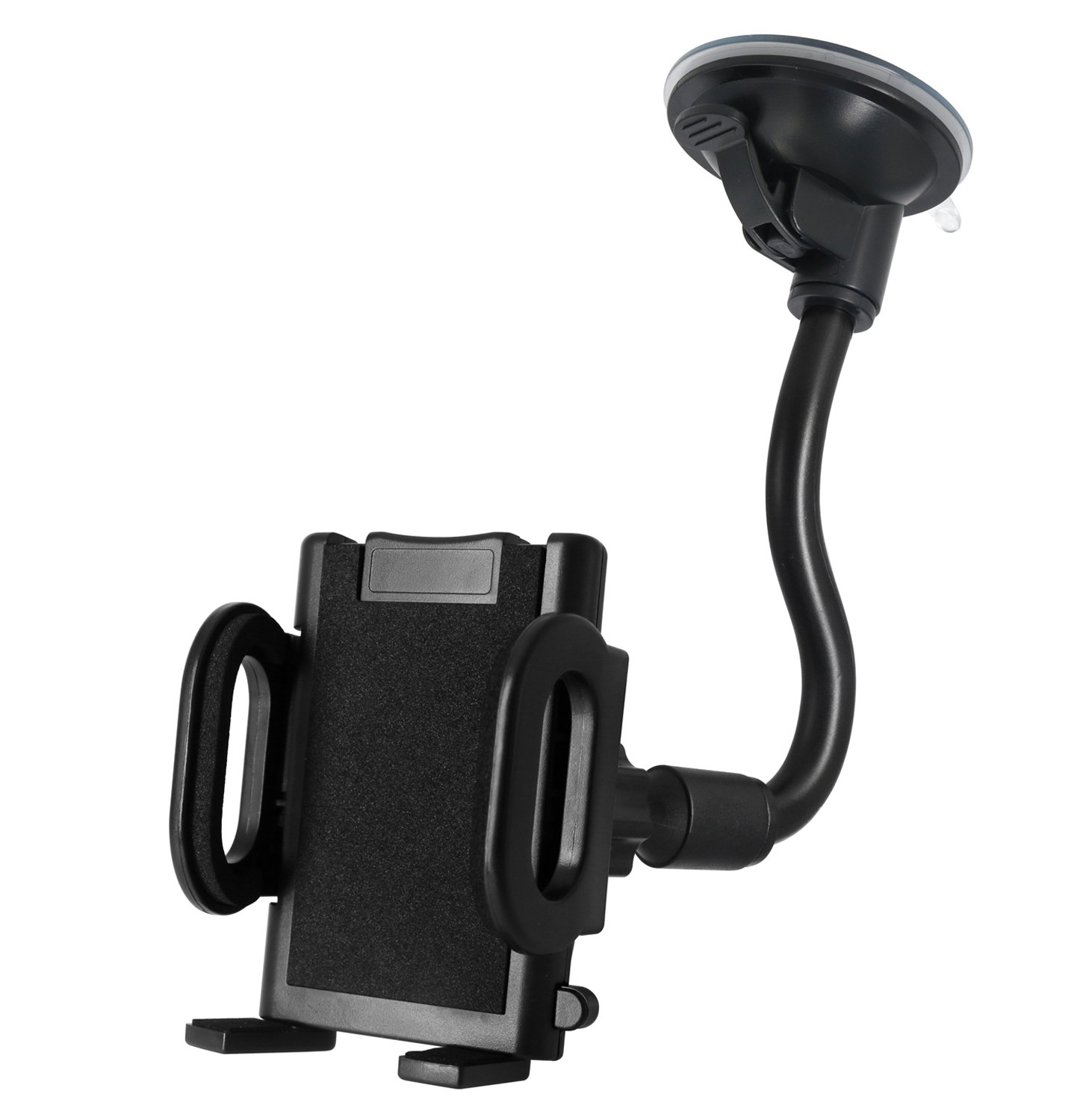 Car Mount X-AUTO One Touch Flexible Arm Universal Windshield Cell Phone Holder with Strong Suction Cup and Three Side Grips for Cell Phone iPhone Smartphones Android GPS Devices and More 4326588968