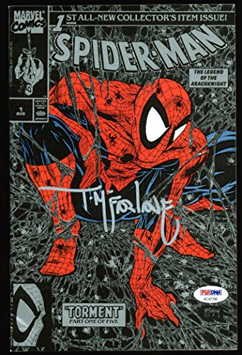Todd McFarlane Signed Spider-Man 1990 Torment #1 Comic Book Silver Cover PSA/DNA from PRESS PASS COLLECTIBLES