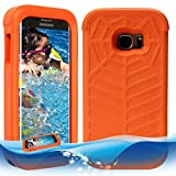 Spidercase Samsung Galaxy S7/ S7 Edge Floating Case Shockproof Toddlerproof Lifejacket Case for Self Waterproof Phone Samsung Galaxy S7/ S7 Edge- Orange (Orange Galaxy S7 Edge(5.5''))