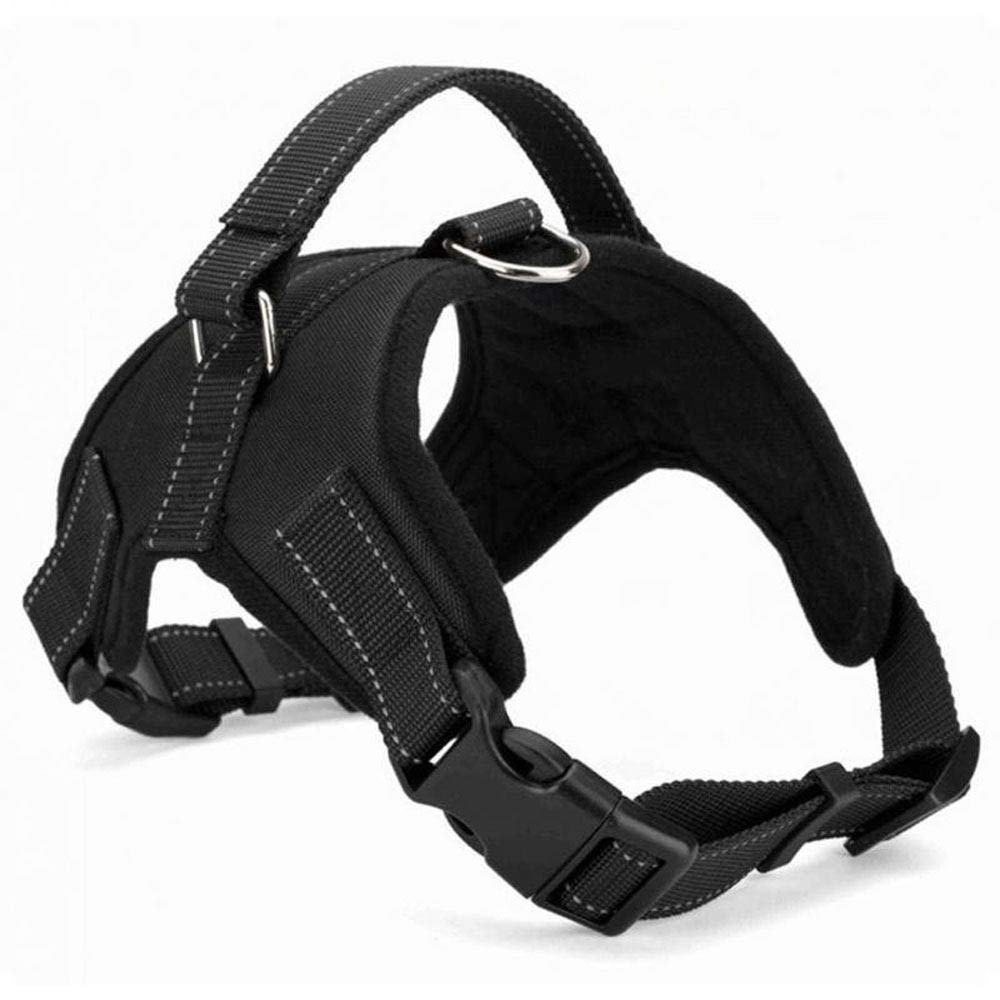 Black XL Black XL Large Dog Harness Vest Walking Hand Strap,Outdoor Collar Pets Vest, Body Padded Vest Comfort Control for Large Dogs in Training Walking,Black-XL