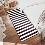Ustide Black and White Stripe Rugs Washable Non-Slip Rug for Kitchen/ Bathroom/ Entry Way/ Laundry Room/ Living Room ,19.7''x47.2''