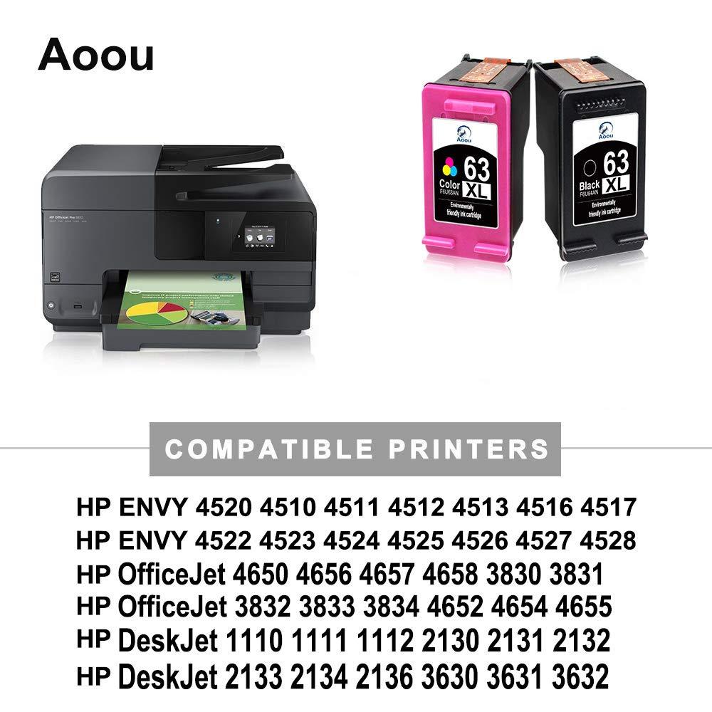 Aoou 63 XL 63XL 63 Cartuchos de tinta compatibles con HP 63 XL ...