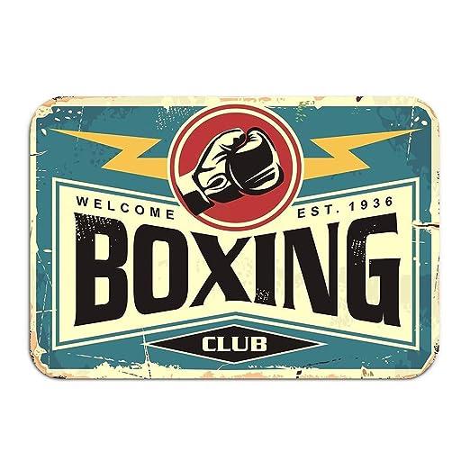 Uosliks Alfombra Alfombra Tapete Puerta Club de Boxeo Diseño ...