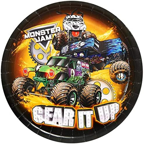 Monster Jam Party Supplies - Dinner Plate (16)