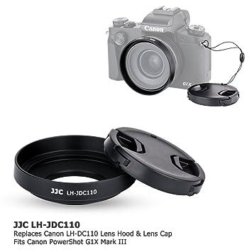 JJC Parasol de objetivo y tapa de objetivo para Canon PowerShot ...