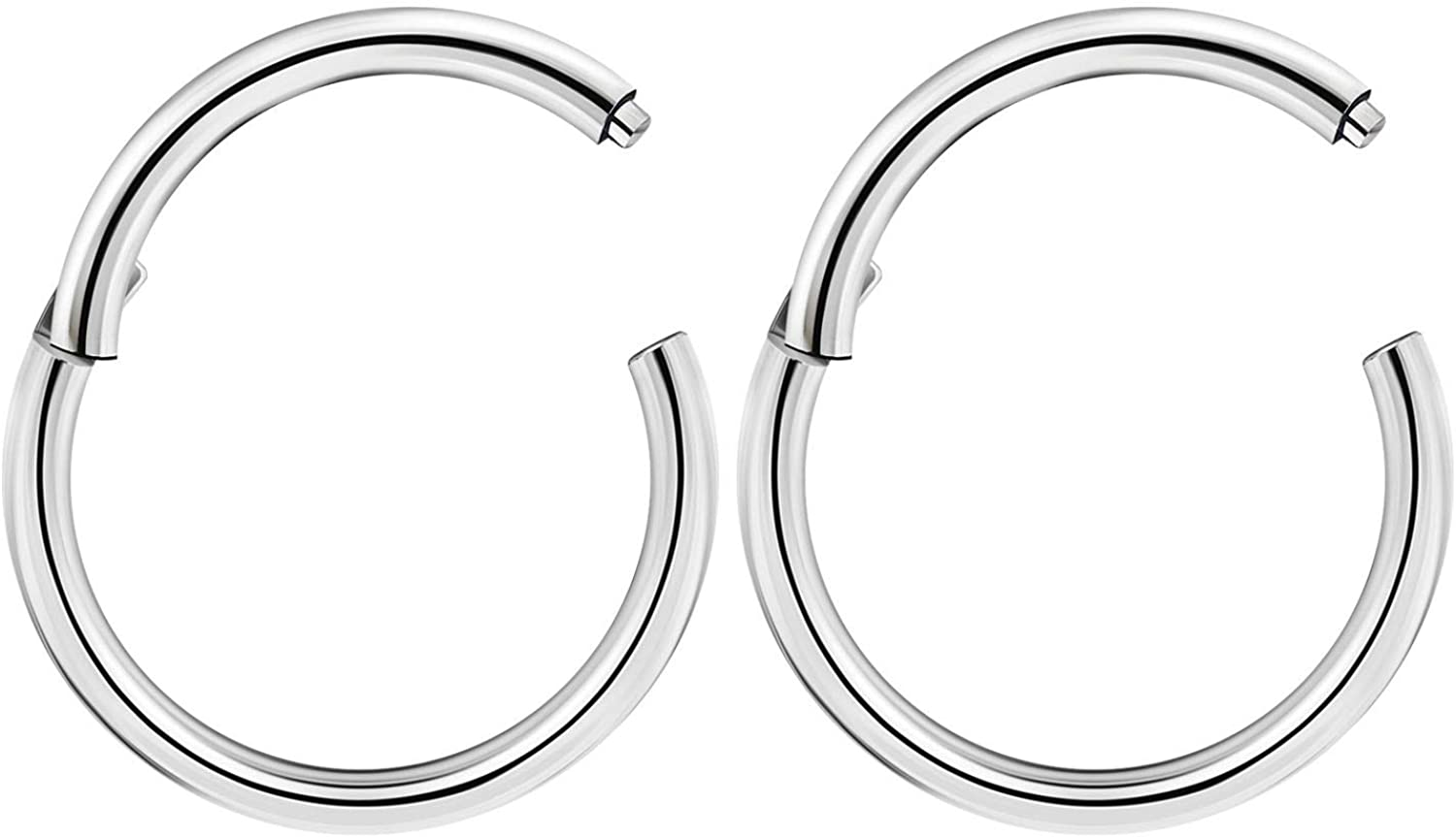 18g 8mm Nose Ring Thin Hoop Lightweight High Quality Stainless Steel Body Jewellery Choose Colour